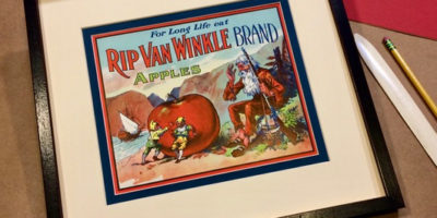 Rip Van Winkle, vintage apple crate label