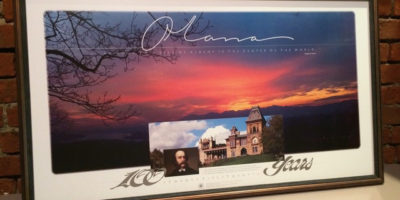 Olana/100 years, commemorative poster